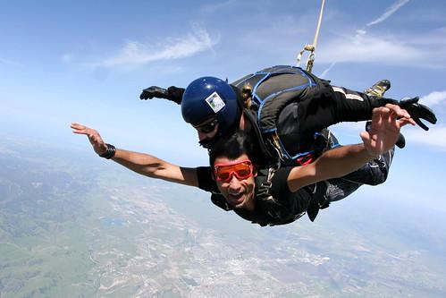 Tandem skydiving in Hollister