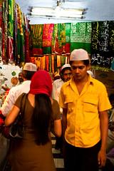 Market Alleys (Ursula in Aus (Travelling - Patchy wifi)) Tags: india alley market delhi mosque mausoleum cloths sufi sufism chisti earthasia hazratnizamuddinstomb