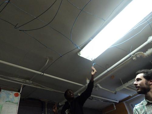 Floor View: Wiring Starts