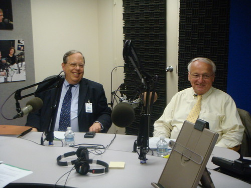 Jim Weill, President, Food Research and Action Center (left) and FNCS Under Secretary Kevin Concannon (right) discussed the summer food service program with other partners and members of the media.