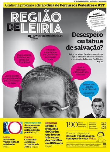 Capa do Região de Leiria da edição 3874 de 17 de Junho 2011