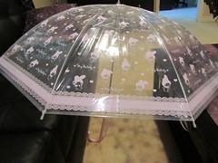 My Melody Umbrella (Suki Melody) Tags: hello pink rabbit bunny love up fashion japan umbrella japanese dress cosplay character kitty sanrio collection clear melody lolita parasol harajuku kawaii mymelody