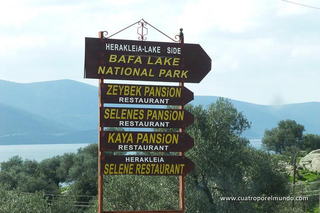 Llegando al lago Bafa