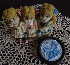 1 (AneloreSMaschke) Tags: bordado tecido xadrez argola reciclando retalho laço instagram