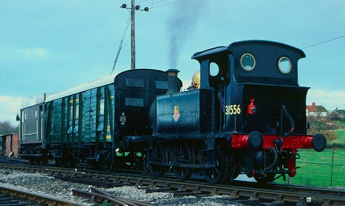 P class 0-6-0T 31556 at Rolvenden, K&ESR, in 1987