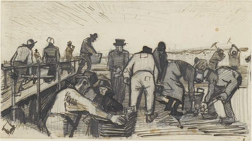 Peat diggers in the dunes - May 1883 (347)
