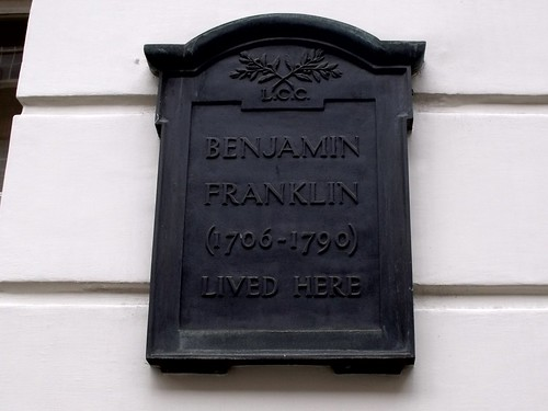 Benjamin Franklin House - 36 Craven Street, London - plaque