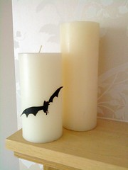 Batty pillar candle
