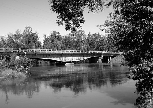 Sabine River Bridge, Hwy 12, Deweyville, Texas 1031091401BW