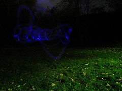 Lightgraf (Dru!) Tags: glowstick backyard chilliwack tagging graf purple blue lightstick signature dark night longexposure