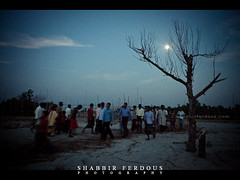 Moon Gate of Rash Mela (Shabbir Ferdous) Tags: blue people cloud moon beach night photographer shot bangladesh canonef2470mmf28lusm chor bangladeshi sundarban rashmela canoneos5dmarkii shabbirferdous dublar rashpurnima wwwshabbirferdouscom shabbirferdouscom