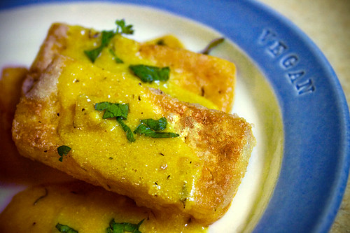 Country-Fried Tofu with Golden Gravy