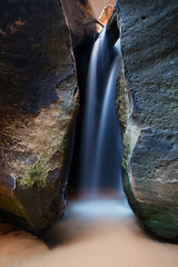 Hidden Water Crack (Mike Hornblade) Tags: fall subway utah waterfall zion zionnationalpark variosonnar163528za