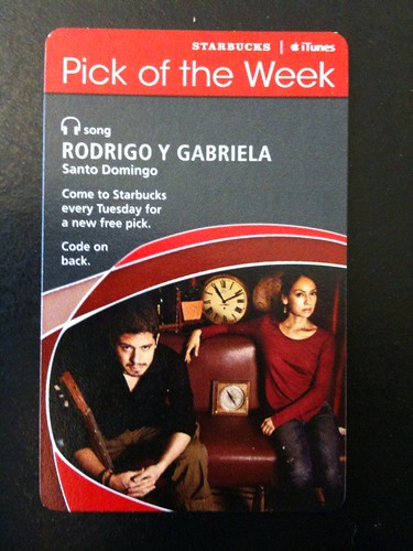 @Starbucks iTunes Pick of the Week - Rodrigo y Gabriela - Santa Domingo #fb