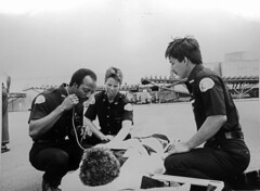Emergency medical technicians, circa 1980 (Seattle Municipal Archives) Tags: seattle 1980 healthcare firstaid emergencies seattlefiredepartment stretchers emts emergencymedicaltechnicians seattlemunicipalarchives