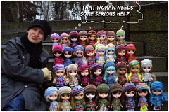 it's meh with thhe dolly family! ^.^ (megipupu) Tags: family doll handmade blythe megipupu