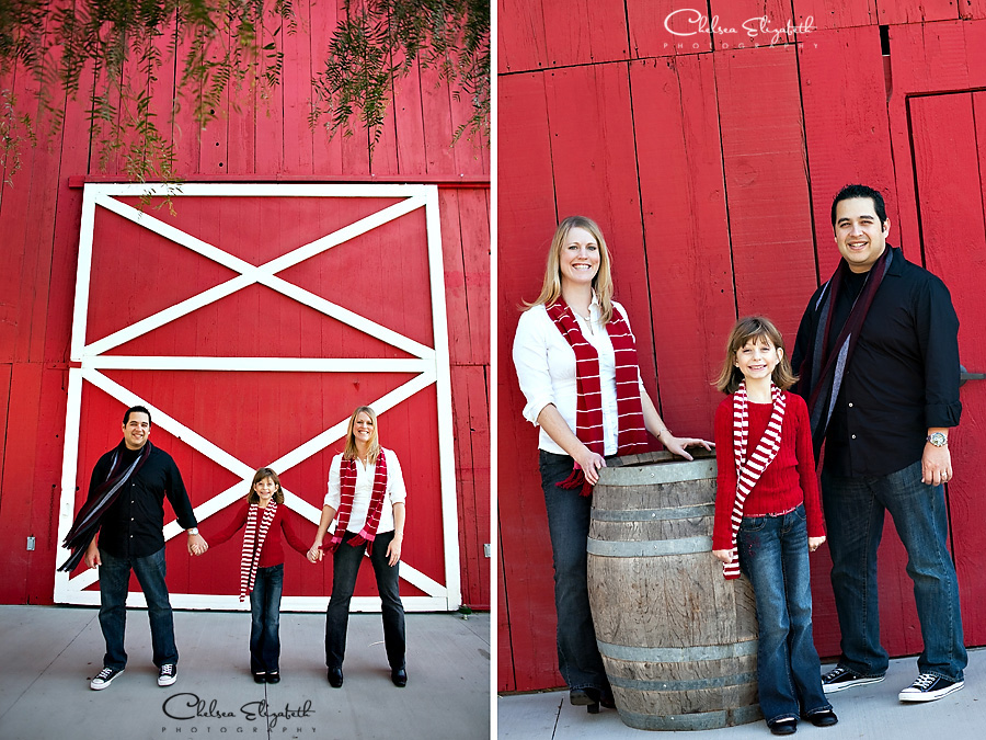 Red Christmas Holiday portrait red barn image
