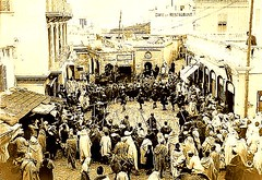 Tangiers Vintage Photo - Fête in the Petit Socco 1910s (ronramstew) Tags: africa old history vintage pc northafrica postcard morocco maroc maghreb souk historical marruecos tangier marokko moroccan tanger tangiers 1900s tanja maghrib socco petitsocco lemaroc soukdakhl