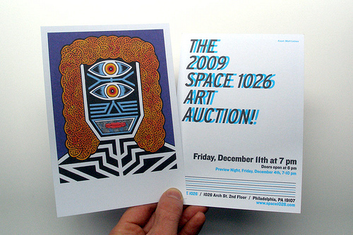 Space 1026 Art Auction Dec. 11th 2009 In Philly!