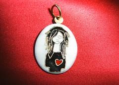 Lonely heart /Enamel cloisonne / (filigran enamel) Tags: girl heart handmade bijou medal medallion lonely enamel cloisonne kszer szv enamelcloisonne
