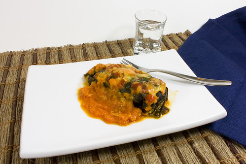 Turkey Cheddar  and Kale Stuffed Collard Leaves 02
