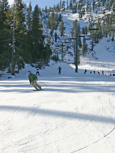 Skiing and Riding on Alpine's opening day