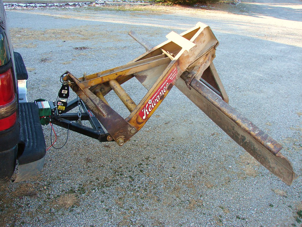 homemade rear snow plow!