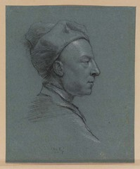 Profile self-portrait in a cap      Richardson, Jonathan the Elder. The Samuel Courtauld Trust, The Courtauld Gallery, London (renzodionigi) Tags: portrait painting design engraving autoritratto ritratto arts fine selfportrait