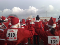 Santa's warming up for the run