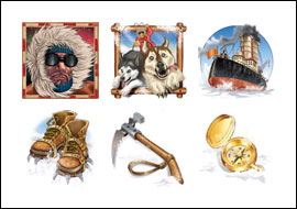 free Polar Pioneers slot game symbols