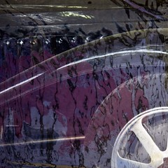 Bugatti (gherm) Tags: distortion paris france reflection car wheel canon voiture exhibition plastic exposition cover hood bonnet bugatti capot plastique distorsion roue champslyses rflexion bche ettore gherm formatcarr eos40d gettyartistpicks 0909195219