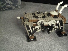Light Steam Quad-Walker Mk. XXXIX (video) (aillery) Tags: war power lego military great steam walker motor machines functions steampunk