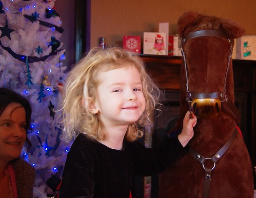 And the rocking horse was a hit too. Bigger than I was expecting though.