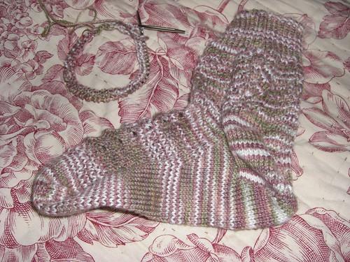 Valentines Socks Pair #1 Progress