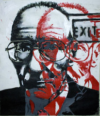 BURROUGHS (mikeletron2) Tags: original art painting double canvas exterminator acrilic nakedlunch williamburroughs lascimmiasullaschiena