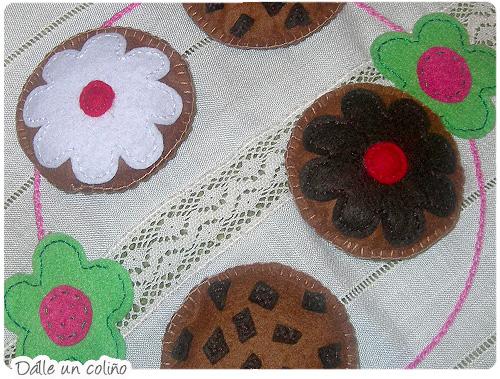 cookies de feltro