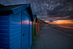 Beach Huts At Sunset (_ justintheframe_) Tags: sunset beach whitby beachhuts northyorkshire tonemapped skyascanvas justintheframe