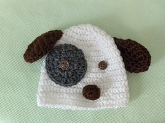 puppy hat (ruali) Tags: boy dog baby brown white girl hat puppy acrylic handmade crochet yarn ruali