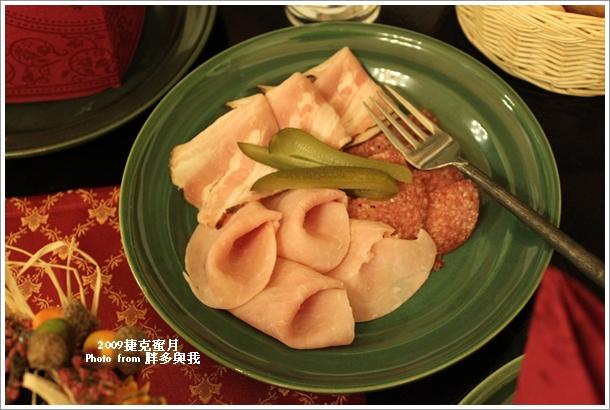 晚餐的火腿培根