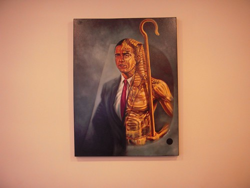 Painting of President Obama