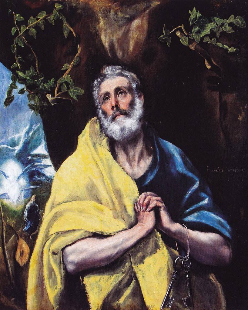 Las lágrimas de San Pedro. Obra de El Greco