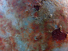 Rust and paint in the backyard (night threader) Tags: blue macro texture rust paint lawnmover