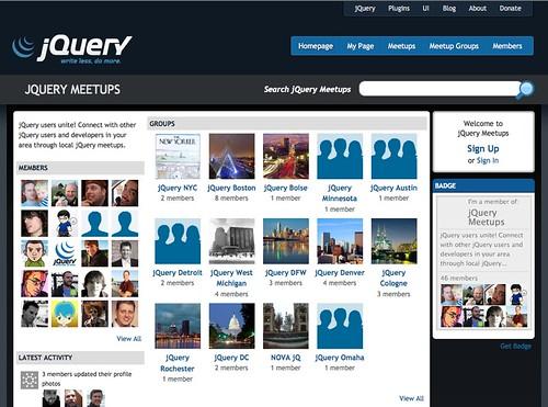 jQuery Meetups