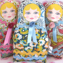 Russian Matryoshka Art Doll (Zouzou Design) Tags: cute floral girl softie blondehair babushka matryoshka babyblue russiandoll russiannestingdoll matryoshkanestingdoll