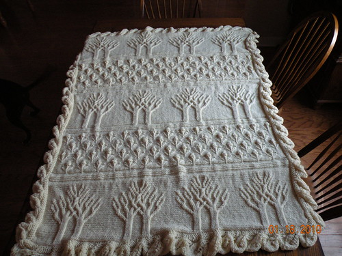 Tree Of Life Knitting Pattern Afghan : FO - Tree of Life Afghan - KnittingHelp.com Forum