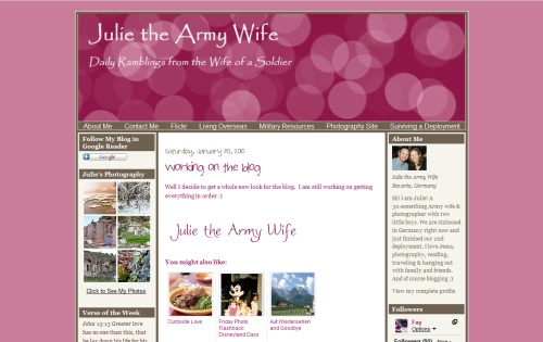 Julie The Army Wife