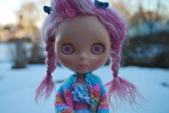 I think I've seen enough snow. (JennyCouture) Tags: pink snow cute ice yard fun sweater rainbow pond shoes valentine mohair yuck flax nanas brite ebl