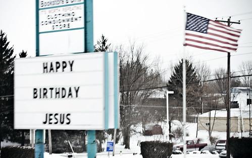 birthday sign happy jesus
