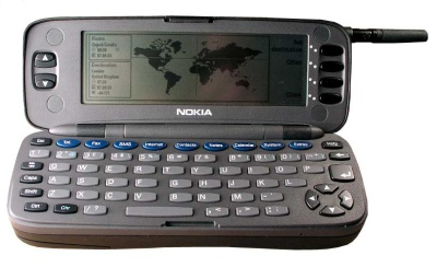 First mobile phone with Internet connection