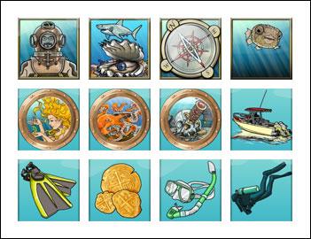 free Ocean Treasure slot game symbols